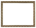 Antique gold frame on the white background Royalty Free Stock Photo
