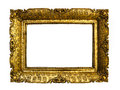 Antique gold picture frame isolated on white background Stock Photo