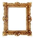 Antique golden frame Stock Photos