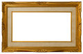 Antique golden frame. Royalty Free Stock Photo