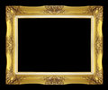 Antique golden frame isolated on black background Royalty Free Stock Photo