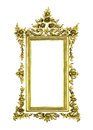 Antique golden frame isolated Royalty Free Stock Photo
