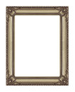 Antique golden frame isolated on white background with clippin clipping path Stock Image