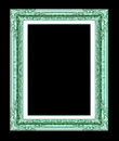 Antique golden frame isolated on white background with clippin clipping path Royalty Free Stock Images