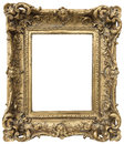 Antique golden frame  on white background Royalty Free Stock Photo
