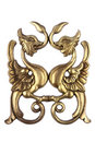 Antique golden wood ornament Royalty Free Stock Image