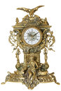 Antique goldish clock. Royalty Free Stock Photo