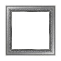 Antique gray frame isolated on white background.