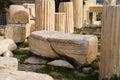 Antique greek column in Parthenon,Athens. Royalty Free Stock Photo
