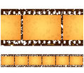 Antique Grunge Filmstrip Frames Royalty Free Stock Photography