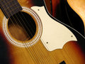 Antique guitar Royalty Free Stock Images