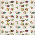 Antique hands with flowers victorian scrap repeat pattern wallpaper Royalty Free Stock Photo