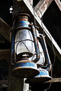 Antique hanging oil lamp Royalty Free Stock Photo