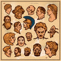Antique heads Stock Images