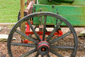 An antique horse-drawn farming wagon Royalty Free Stock Photo