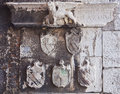 Antique inscriptions , venice lion and coats of arms