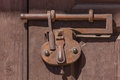 Antique Iron Lock Royalty Free Stock Photo