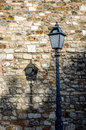 Antique iron street lamp in budapest hungary old beautiful lantern at summer day Stock Images