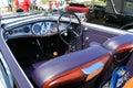 Antique italian car cabin interior Royalty Free Stock Photo