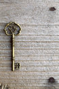 Antique key Stock Photography