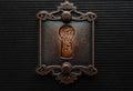 Antique keyhole with brickwall blocking it Royalty Free Stock Photo