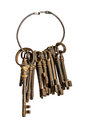 Antique keys on a ring Royalty Free Stock Photo