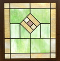 Antique Leaded Glass Window Royalty Free Stock Photo