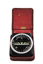 Antique light meter analog in case Stock Photography