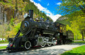 Antique Locomotive in Newhalem Washington Royalty Free Stock Image