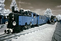Antique locomotives. Royalty Free Stock Image