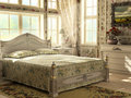 Antique luxury bedroom Stock Images