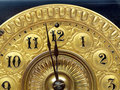 Antique mantle clock hands Royalty Free Stock Photo