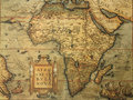 Antique map of Africa Royalty Free Stock Photo