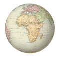 Antique map of africa on the globe from atlas by f a garnier Royalty Free Stock Images