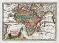 stock image of  1730 Antique Map of Africa by Weigel