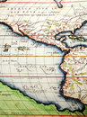 Antique map of America Royalty Free Stock Photography