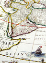 Antique map of Arabia Royalty Free Stock Photos