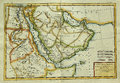Antique map of arabian peninsula eastern africa vintage middle east and north engraved by rigobert bonne and published in Royalty Free Stock Photography
