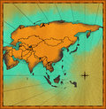 Antique map of Asia Royalty Free Stock Photo