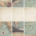 Antique map banners Stock Image