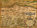 Antique Map of Bavaria Royalty Free Stock Images