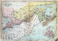 Antique Map of Canada Royalty Free Stock Photo
