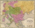 Antique map of Eastern Europe Royalty Free Stock Images