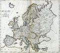 Antique map of Europe Royalty Free Stock Photo