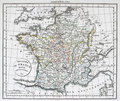 Antique Map of France Royalty Free Stock Photo