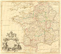Antique map of france on white background Stock Photography