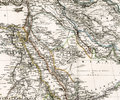 Antique map of Middle East Arabia Iraq Royalty Free Stock Photo