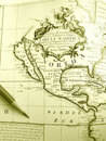 Antique map of North America Royalty Free Stock Photo