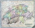 Antique Map of Switzerland Royalty Free Stock Photo