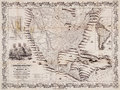 Antique map of the USA and the Americas Stock Photos